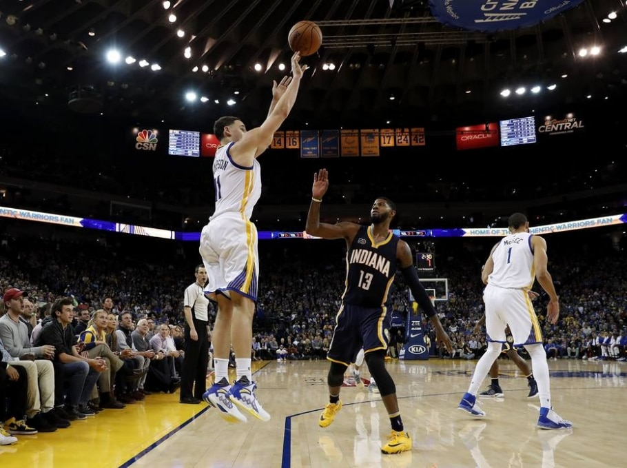 Klay Thompson, do Golden State Warriors - EFE/ John G. Mabanglo