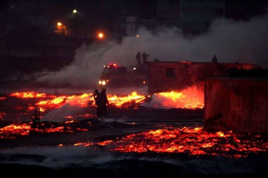 Incêndio atinge Ceasa no Rio - Marcos D'Paula-AE