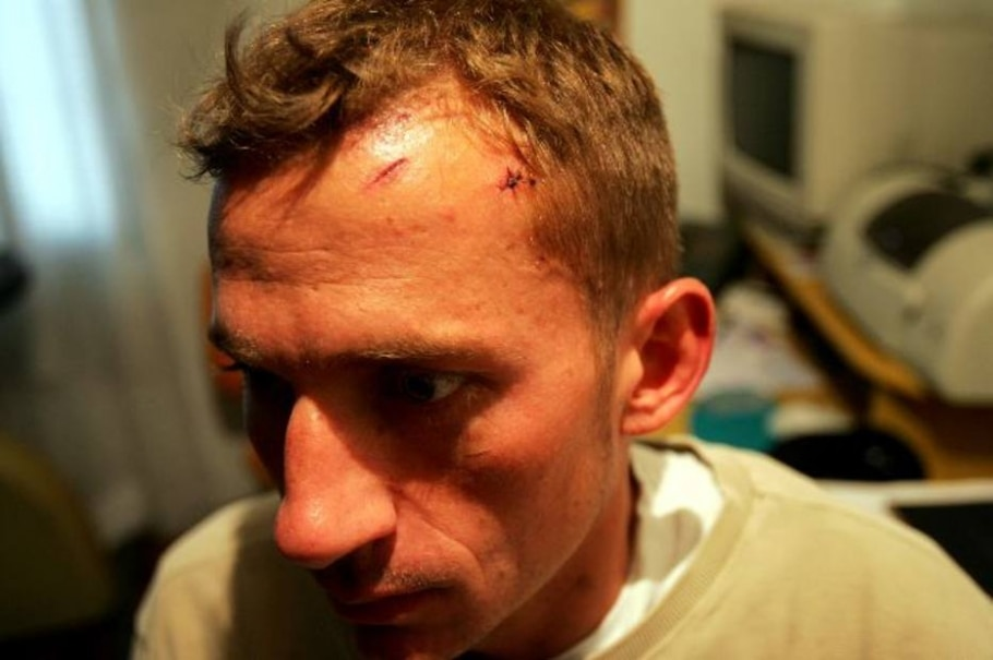 Adestrador é agredido por motorista - Ernesto Rodrigues/AE