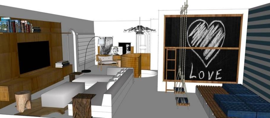 Sala da Vovó - arquitetura de interiores;decoração; meu projeto no Casa