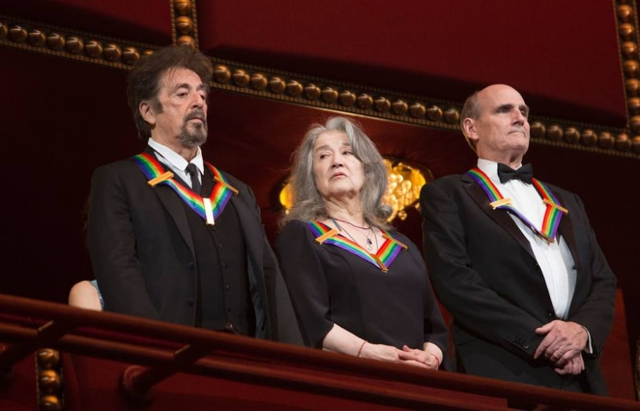 Al Pacino, Marta Agerich e James Taylor, no Kennedy Center - AFP