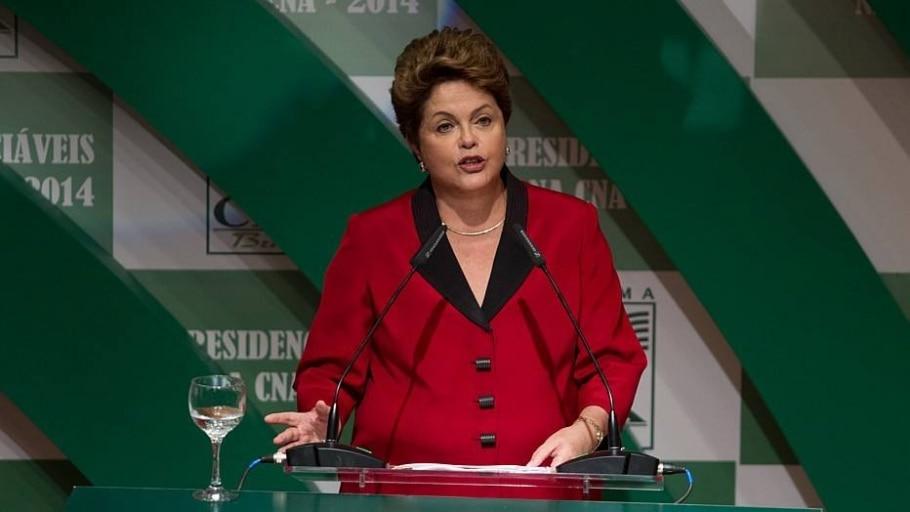 A presidente Dilma Rousseff em evento da CNA - Ed Ferreira/Estadão