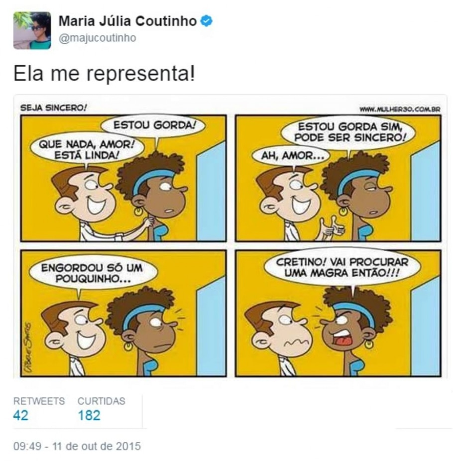 Bom-Humor - Twitter / @majucoutinho