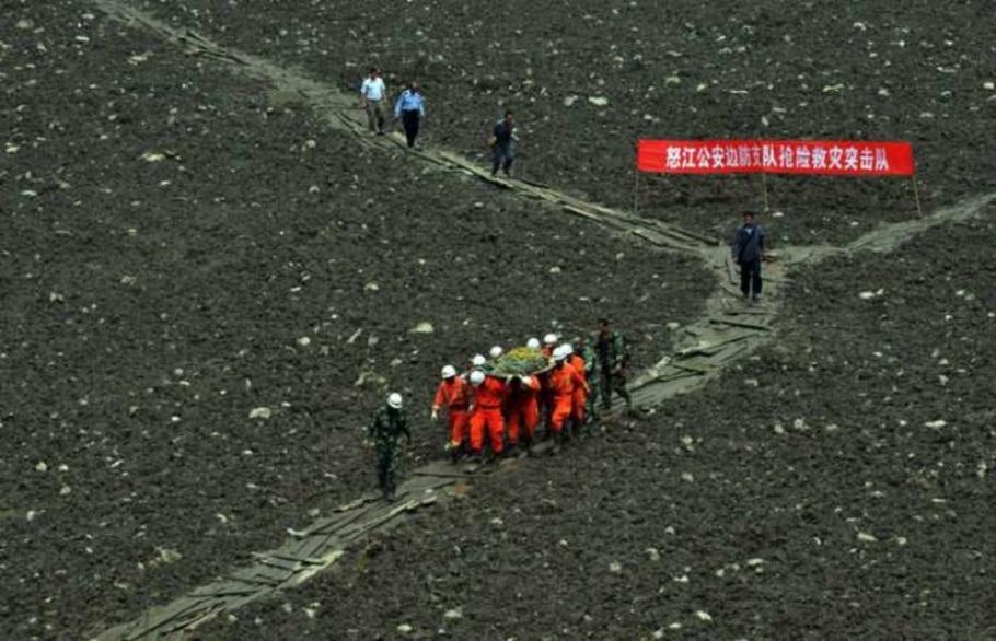 Deslizamento mata ao menos 1 e deixa 90 desaparecidos na China; país vive sua pior monção em 12 anos - Lee Jinhon/EFE