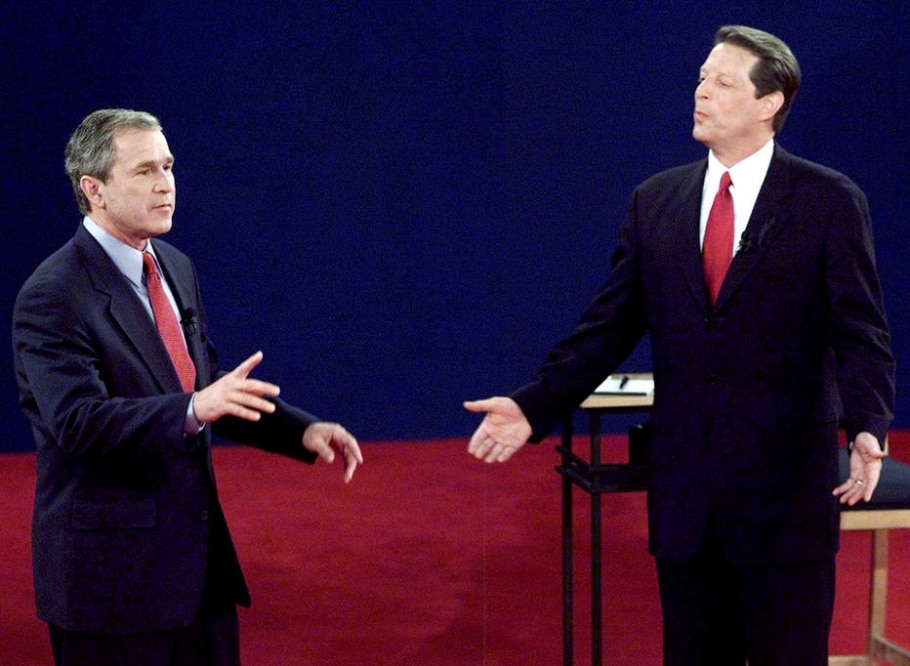 2000 - Bush e Gore - REUTERS/Jeff Mitchell