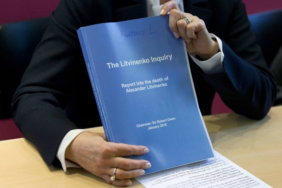 Marina Litvinenko, viuva do ex-espião russo assassinado em Londres, Alexander Litvinenko, sugera cópia da investigação britânica - AFP PHOTO / JUSTIN TALLIS