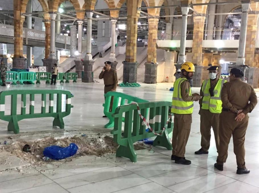 Acidente em Meca  - Defesa Civil Saudita/AP