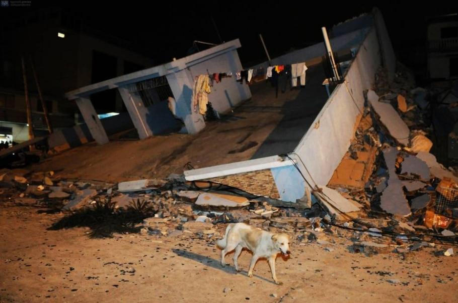 Terremoto no Equador - Marcos Pin Mendez/AFP