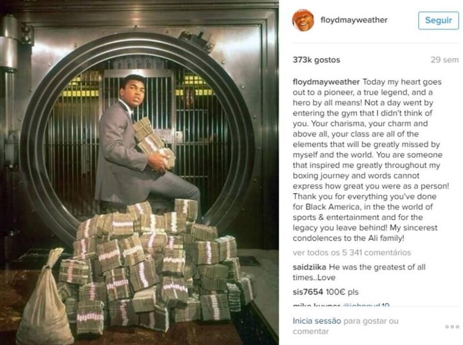 Muhammad Ali - Reprodução/Instagram