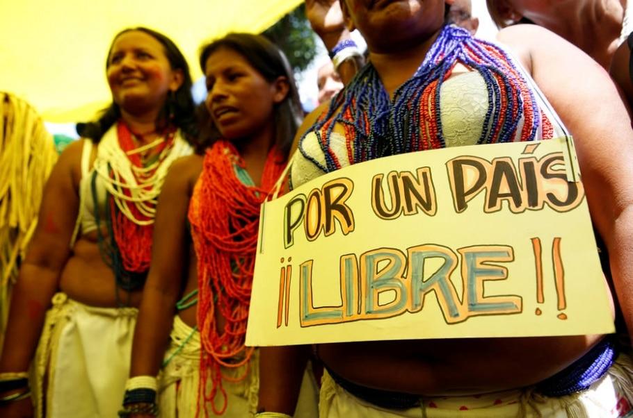 Opositores protestam na Venezuela contra Nicolás Maduro - REUTERS/Carlos Garcia Rawlins