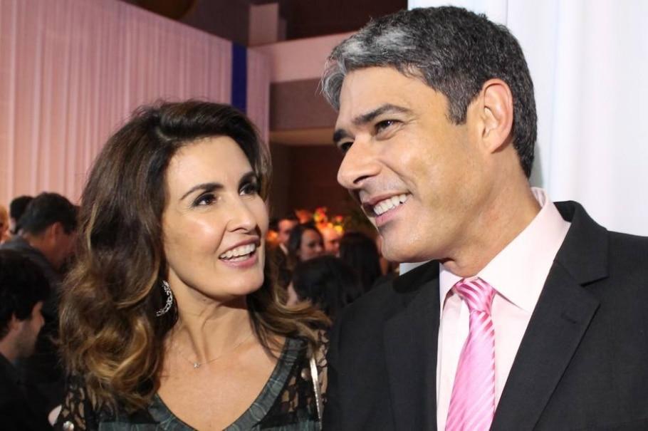 Fátima Bernardes e William Bonner - Divulgação/Globo