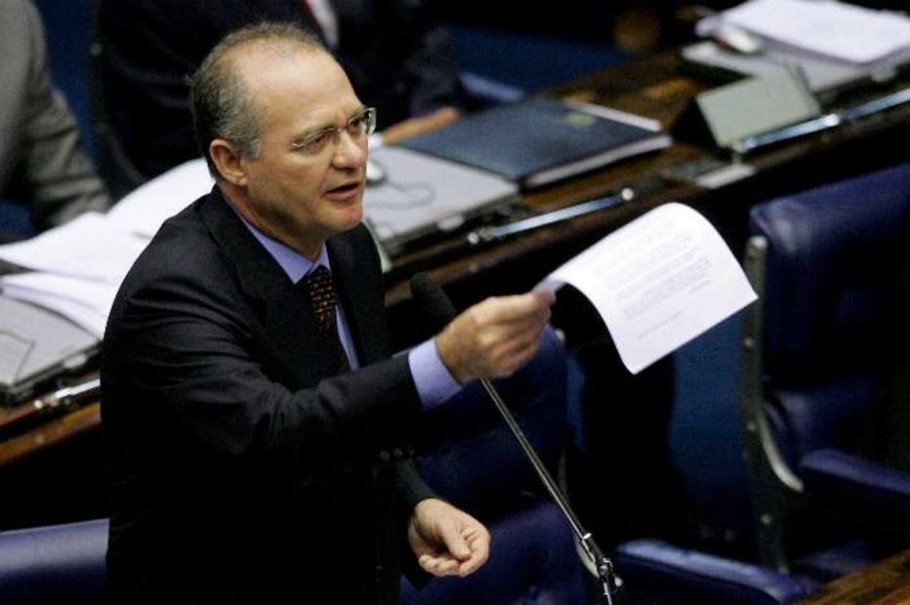 Renan Calheiros renuncia à presidência do Senado - Celso Júnior/AE