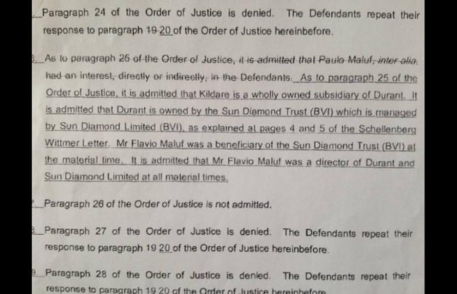 Veja os documentos que informam que Maluf recebeu