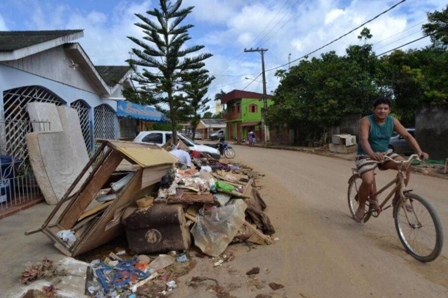 Enchente já afeta 117 mil pessoas no Acre - Angela Peres/Secom Acre/Divulgação