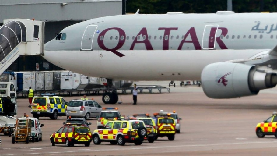 Avião da Qatar Airways no aeroporto de Manchester - Andrew Yates/Reuters