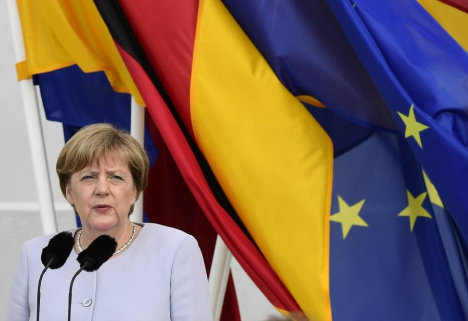 Alemanha: Angela Merkel - AFP PHOTO / John MACDOUGALL