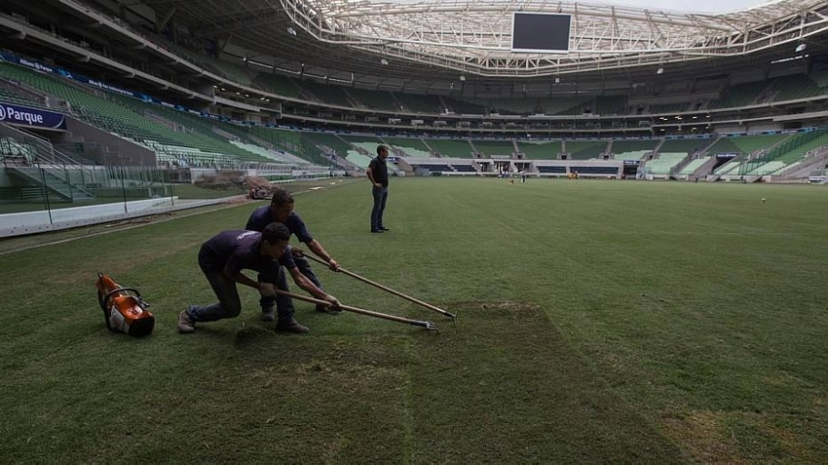 Allianz Parque deve passar por novas trocas no gramado em setembro e em dezembro - Amanda Perobelli/Estadão