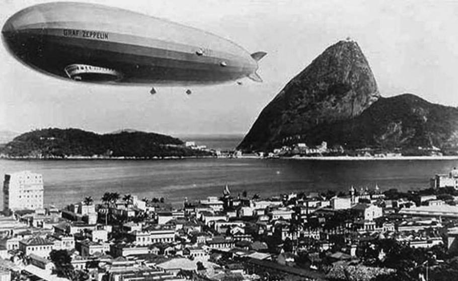 Dirigível Zeppelin - Reprodução