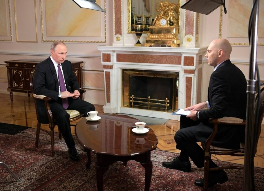 Em entrevista a emissora russa, Putin afirmou que relação com os EUA piorou no governo Trump - EFE/Alexei Druzhinin / Sputnik / Kre