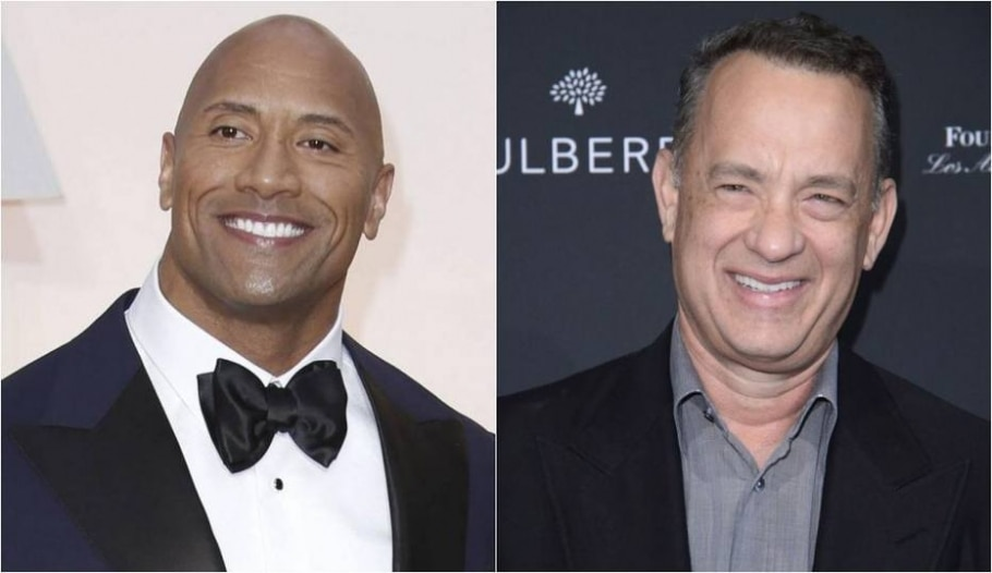 Dwayne Johnson e Tom Hanks - Noel West/The New York Times | Phil McCarten/Reuters