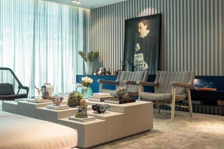 Com texturas contrastantes, decoração sugere calor e acolhimento - Mariana Boro/Divulgação
