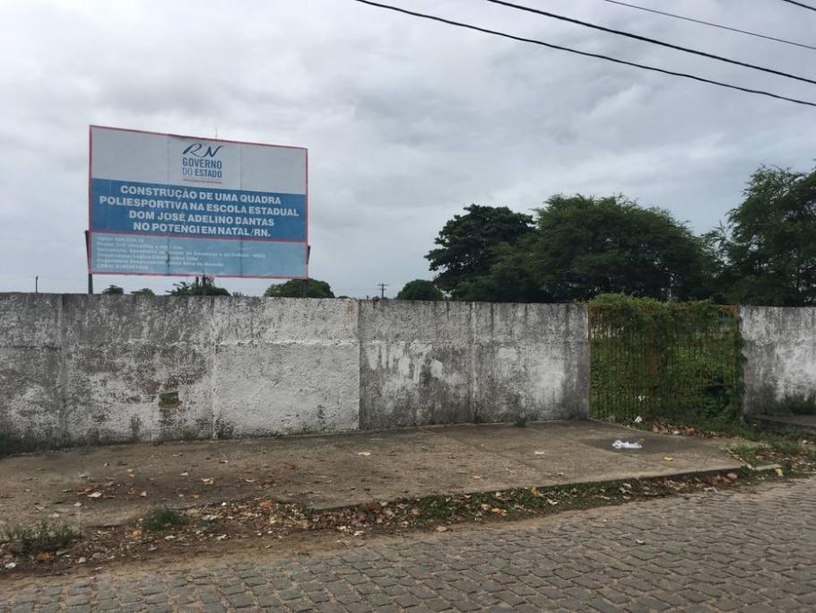 Em Natal, 31 quadras poliesportivas aguardam construção - RICARDO ARAÚJO