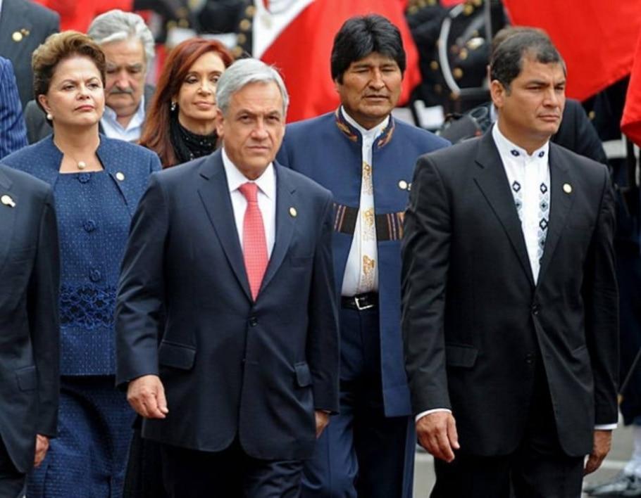 Dilma Roussef, José Mujica, Cristina Fernandez, Sebastián Piñera e Rafael Correa - Raúl García/Efe