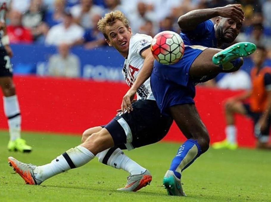 Kane Tottenham Wes Morgan Leicester - Geoff Caddick/ AFP