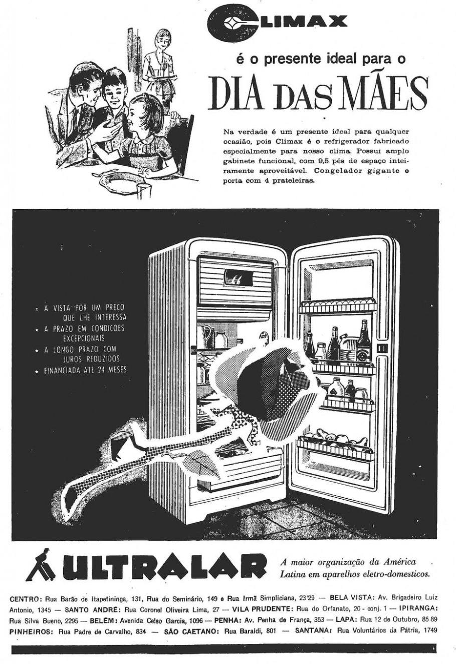 Geladeira, 30/4/1963 - Reprodução