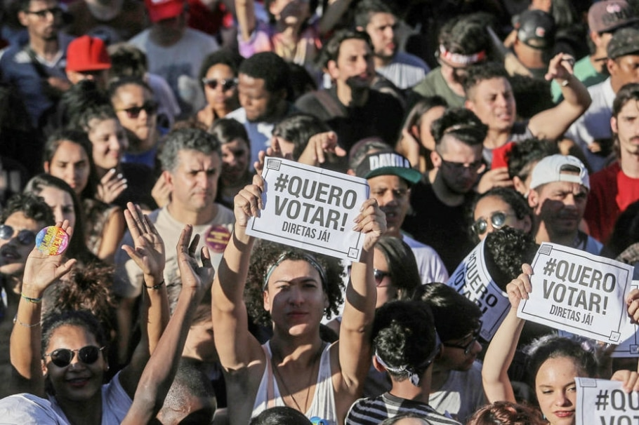 Manifestações pela saída de Temer em São Paulo - AMANDA PEROBELLI/ESTADAO