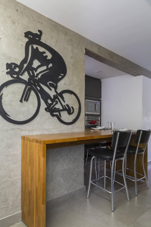 Decoração com bicicletas  - Evelyn Müller/Divulgação