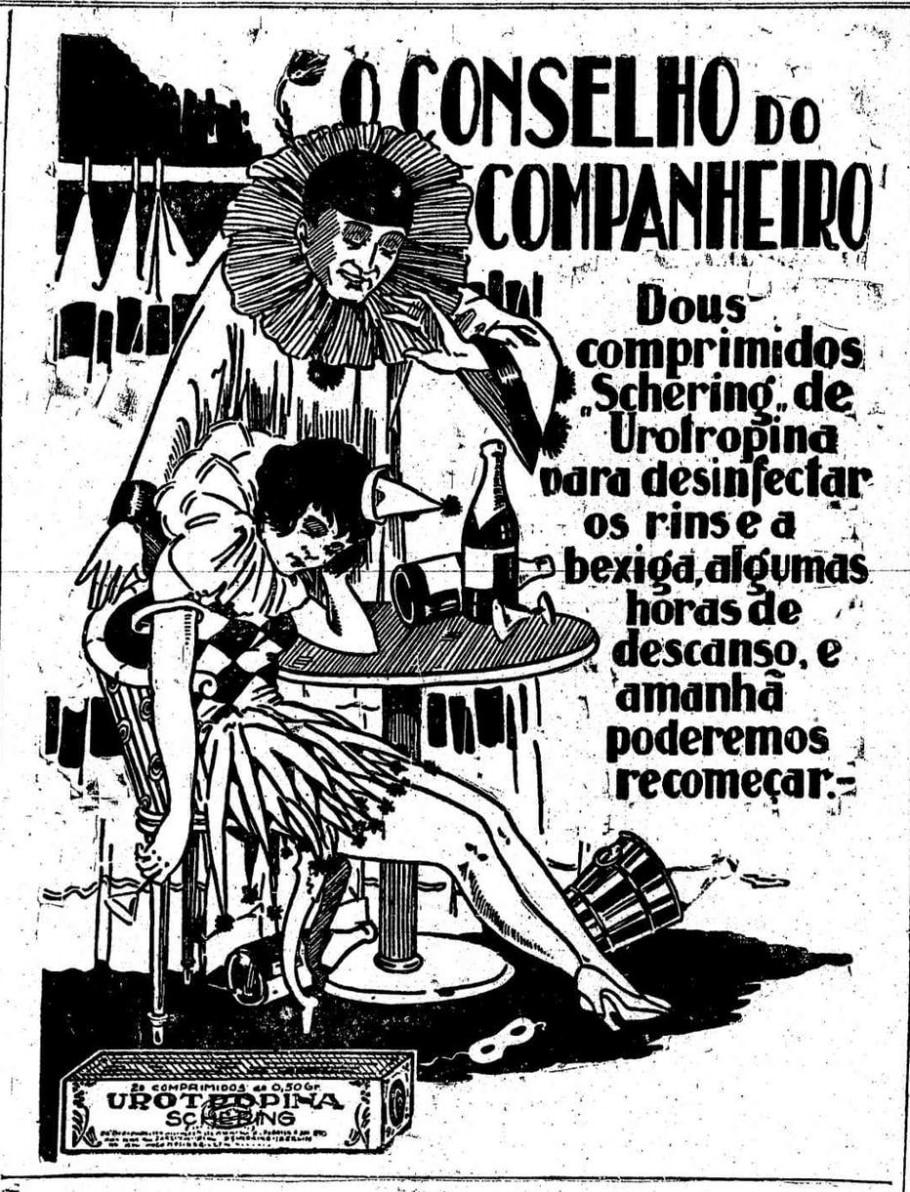 Anúncio dos comprimidos de Urotropina (1925) - Acervo/ Estadão