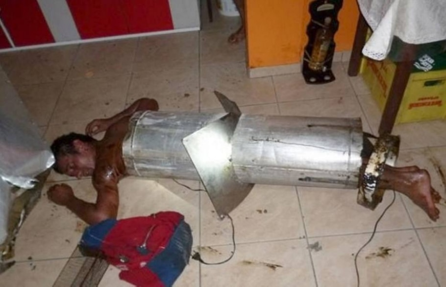 Ladrão fica entalado na chaminé e desaba no chão em SC; relembre outros casos - Divulgação