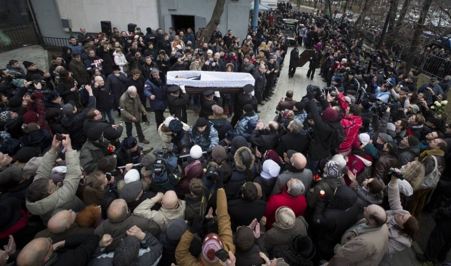 funeral Nemtsov - Dmitry Lovetsky/AP