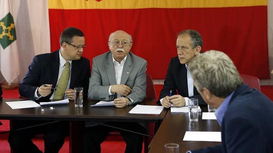 Feldman junto a Roberto Amaral e Beto Albuquerque do PSB - André Dusek/Estadão