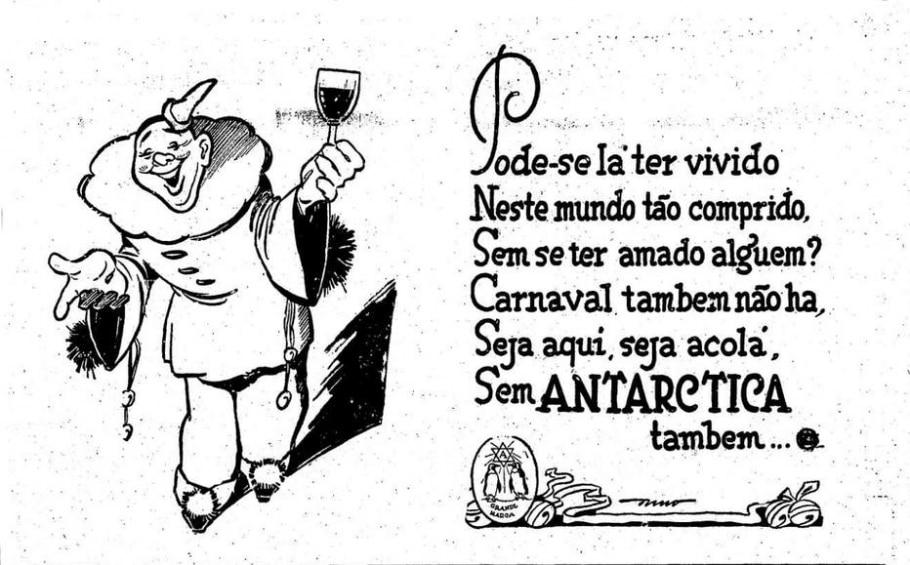 Anúncio das bebidas Antarctica (1937) - Acervo/ Estadão