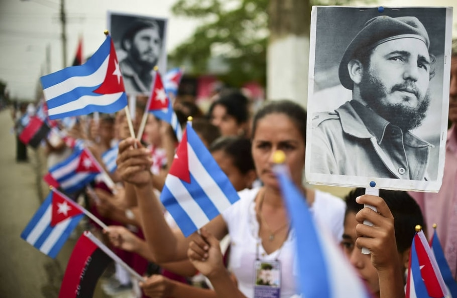 Homenagem a Fidel Castro em Cuba - AFP PHOTO / Ronaldo SCHEMIDT