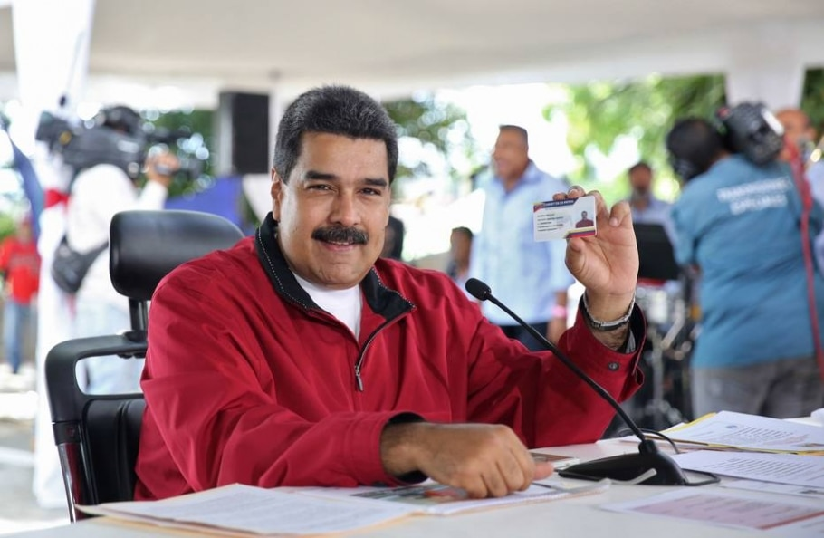 Presidente da Venezuela, Nicolás Maduro, anunciou a troca do presidente do Banco Central do país - AFP PHOTO / VENEZUELAN PRESIDENCY