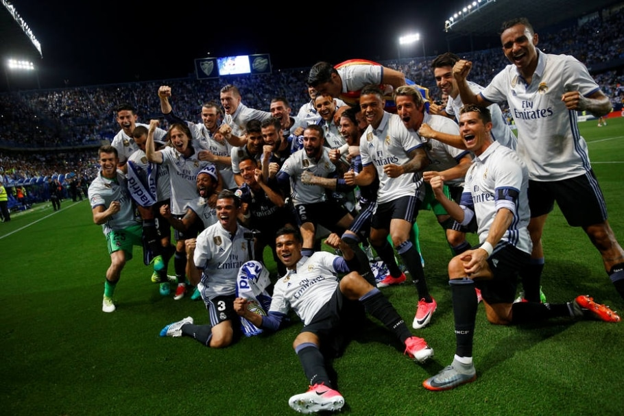 Real Madrid, campeão espanhol de 2017 - Juan Medina/ Reuters