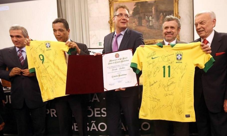 Valcke recebe em nome de Blatter o título de Cidadão Paulistano - JF Diorio/ Estadão