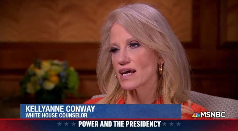 A conselheira de Trump, Kellyanne Conway, citou massacre que nunca ocorreu para justificar veto a imigrantes de países muçulmanos - Reprodução/MSNBC