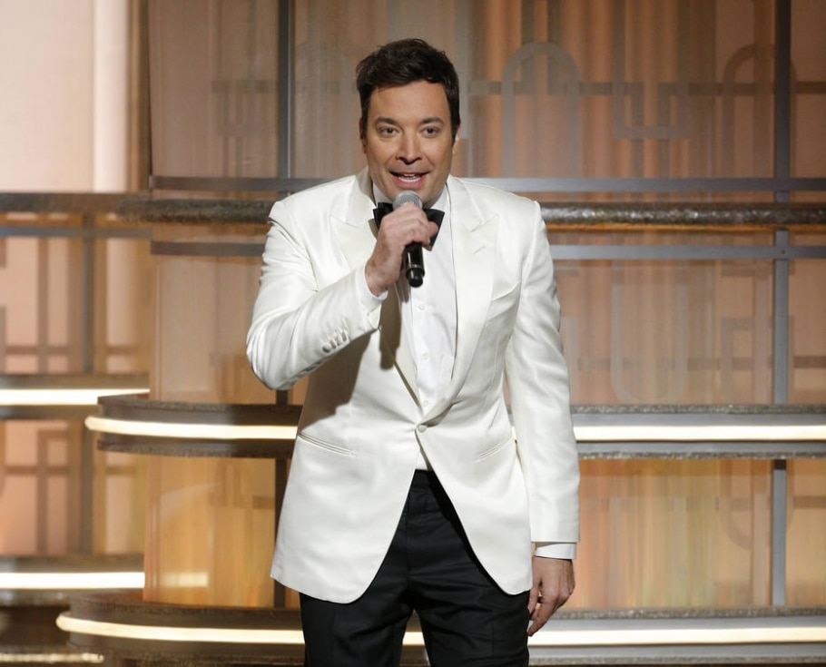 Jimmy Fallon fez piadas com Donald Trump no Globo de Ouro - Paul Drinkwater/NBC via AP
