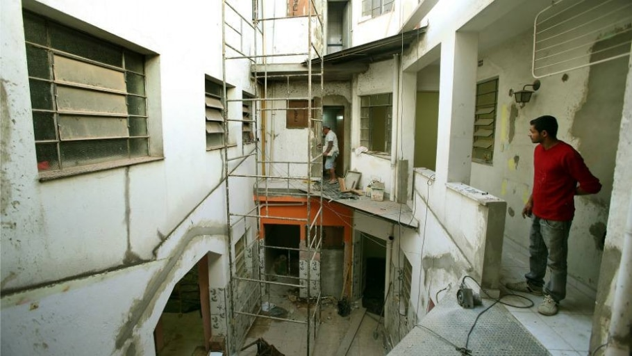 Reforma no prédio é feita pelo Serviço Franciscano de Solidariedade, instituição é dona do imóvel al - José Patrício/Estadão