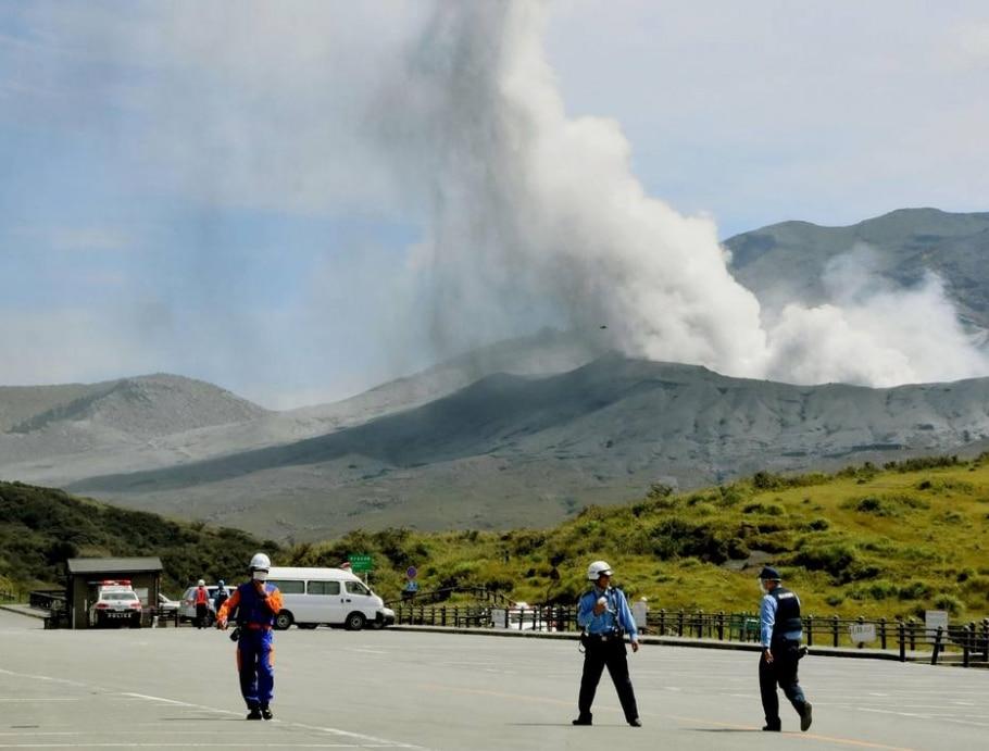 Vulcão entra em erupção no Japão - REUTERS/Kyodo