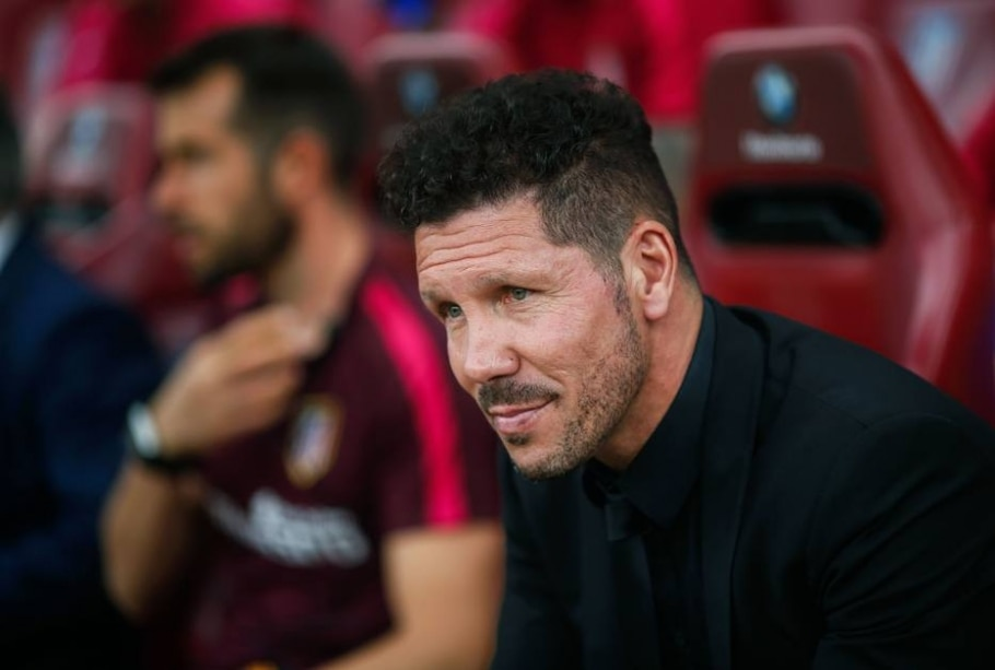 Diego Pablo Simeone, técnico do Atlético de Madrid - Oscar del Pozo/ AFP Photo