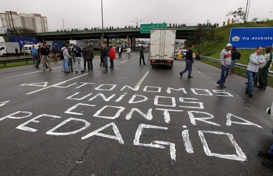 Manifestações em rodovias - Sérgio Castro/AE