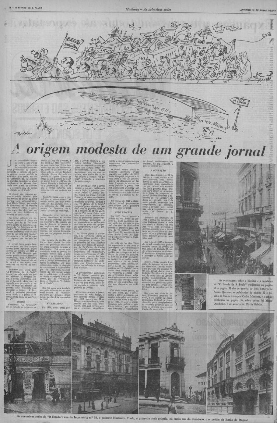 A origem modesta de um grande jornal - Acervo/Estadão