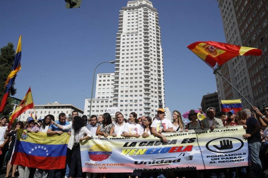 Protestos pelo mundo contra Nicolás Maduro - EFE/JuanJo Mart?