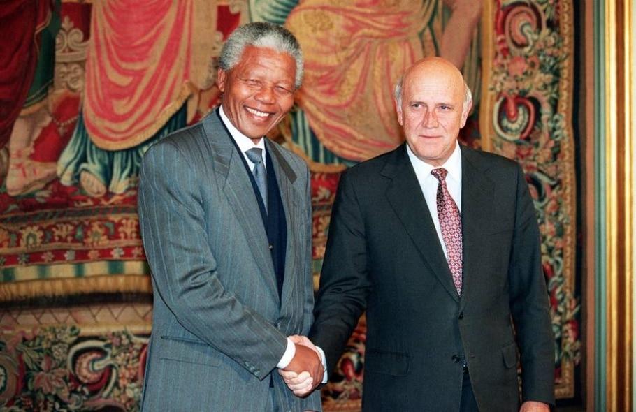 Nelson Mandela e Frederik de Klerk - Gerard Julien / AFP