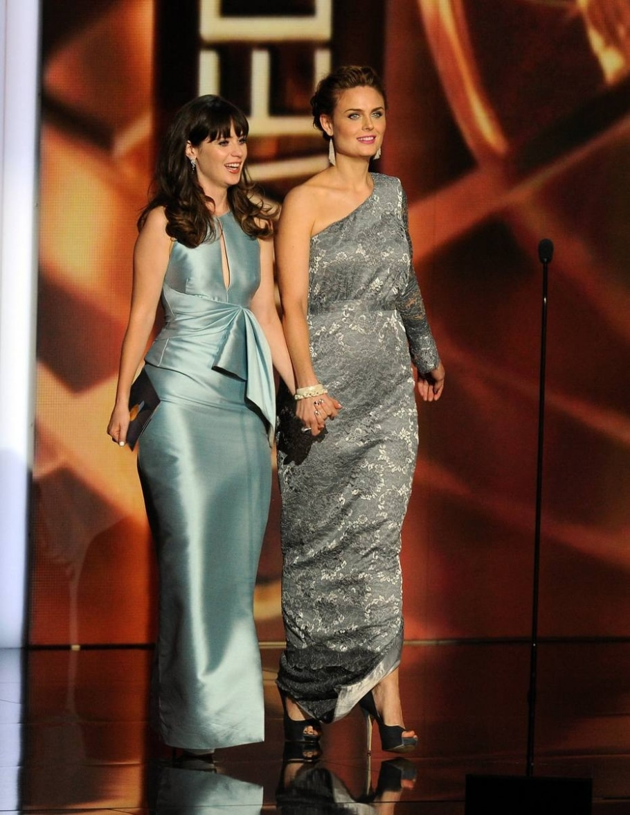 Zooey e Emily Deschanel - KEVIN WINTER/GETTY IMAGES